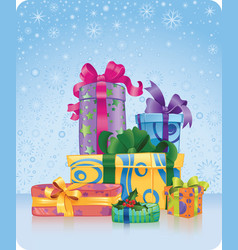christmas and new year gifts vector image