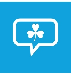 Clover message icon vector image