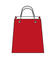 color silhouette image bag for shopping vector image