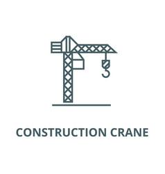 construction crane line icon construction vector image
