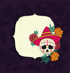 day of the dead frame vector image