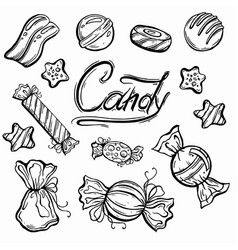 delicious beautiful graphic sweets vector image