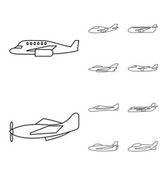Design commercial and flight symbol set vector