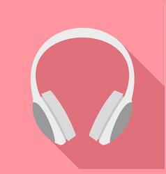 dj headphones icon flat style vector image