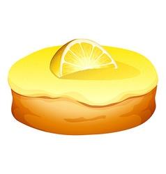 Doughnut with lemon cream vector