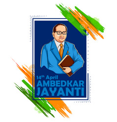 Dr bhimrao ramji ambedkar with constitution vector