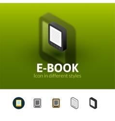 E-Book icon in different style vector