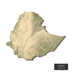 Ethiopia map - 3d digital high-altitude vector