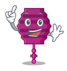 Finger paper lantern mascot cartoon vector