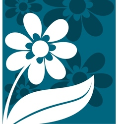 Floral ornament in blue and white vector image vector image