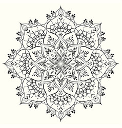 flower decorative mandala design element vector image