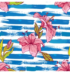 Flower stripes seamless 380 vector