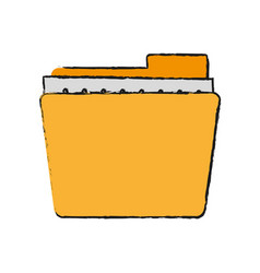 folder documents out vector image