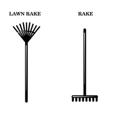 gardeners tools icons two simple vector image