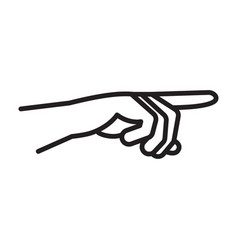 gesture hand a human forefinger pointer vector image