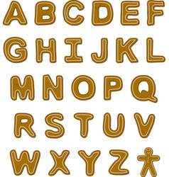 Gingerbread Font vector
