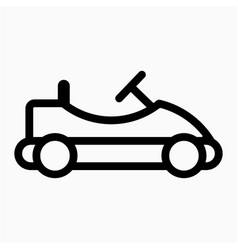 Go kart icon vector