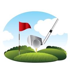 golf kick the ball vector image
