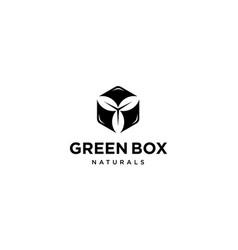 green box logo design concept vector image