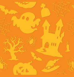 halloween seamless background 2 vector image