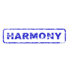 Harmony rubber stamp vector
