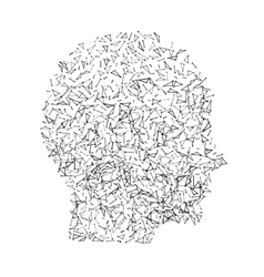 Head human face profile wireframe vector