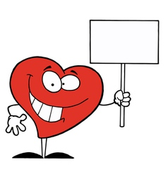 Heart Holding Sign vector