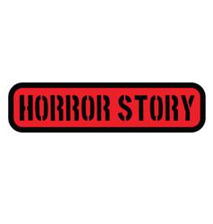 Horror story stamp on white vector