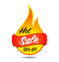 Hot sale flaming label vector