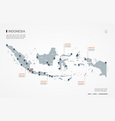 Indonesia infographic map vector
