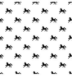 Knight horse mascot pattern seamless vector