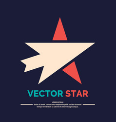 Logo of star with arrow on a black background vector