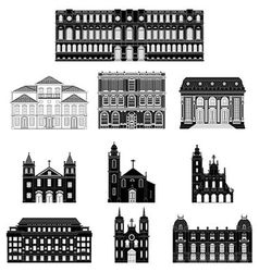 old architecture vector image