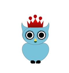 Owl with crown and crown vector image
