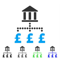 Pound bank payments flat icon vector
