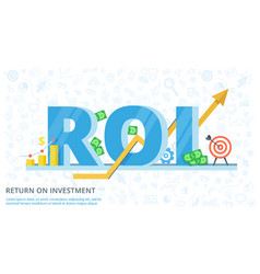 Return on investment - flat banner vector