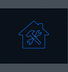 Service house repair tool icon service symbol vector
