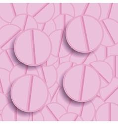 Set of Pink Pills vector