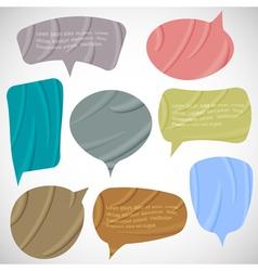 set of silk speech bubbles vector image