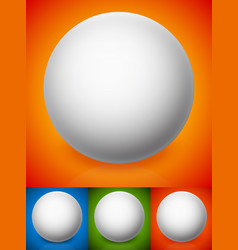 shaded spheres on vibrant backgrounds vector image