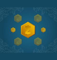 Smartcash background style for blockchain vector