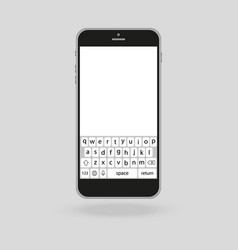 Smartphone design with touchscreen keypad vector