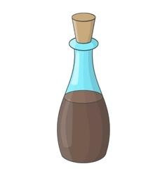 Soy sauce bottle icon cartoon style vector