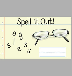 Spell it out glasses vector