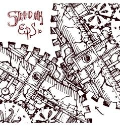 steampunk hand drawn vector image