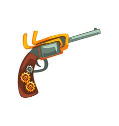 Steampunk revolver design element antique vector