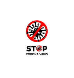 stop corona virus vector image