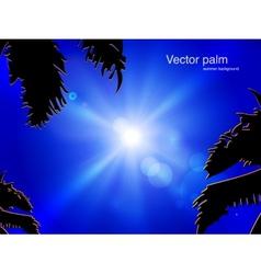 sun on blue sky vector image
