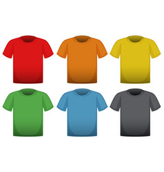 T-shirts in six different colors vector
