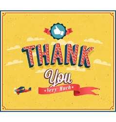 Thank you very much vintage emblem vector image